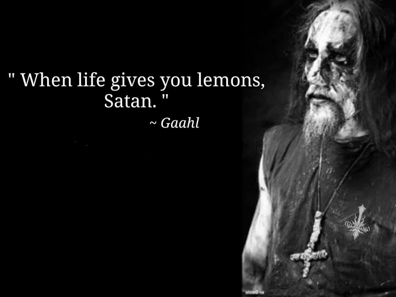 When Life Gives You Lemons Satan Metal Meme Metal Albums Satan