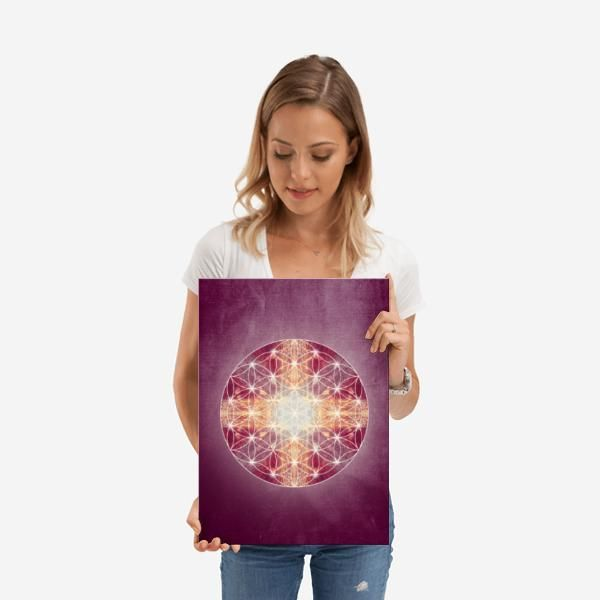 Flower Of Life Magenta - M | Displate thumbnail