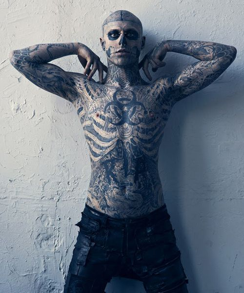 Zombie Boy From Lady Gaga S Born This Way Rick Genest Art Artwork