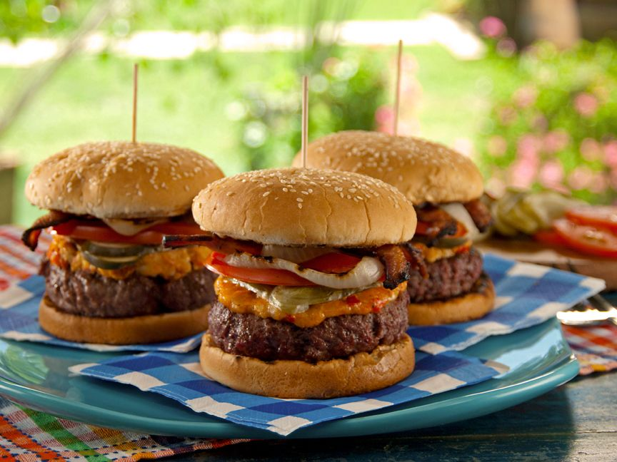 Pimiento Cheese-Bacon Burger from FoodNetwork.com