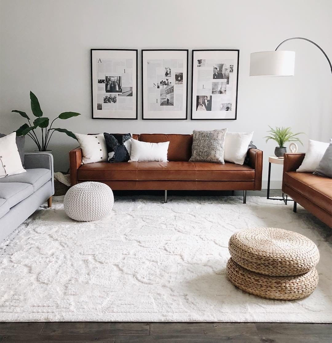 West Elm On Instagram Our Axel Leather Sofa Goes With Just About