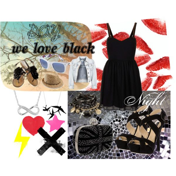"""We Love Black"" by nuria10 on Polyvore"