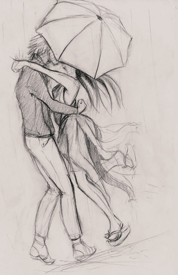 40 Romantic Couple Pencil Sketches And Drawings Drawing Coloring