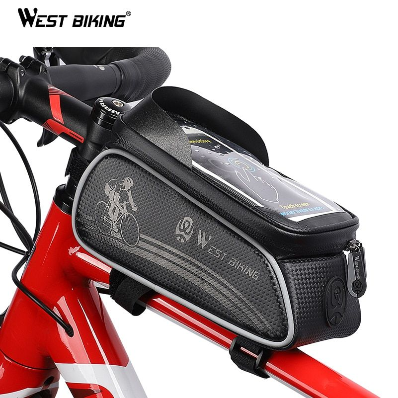 Best Price West Biking Bicycle Bag Cycling Top Front Tube Frame