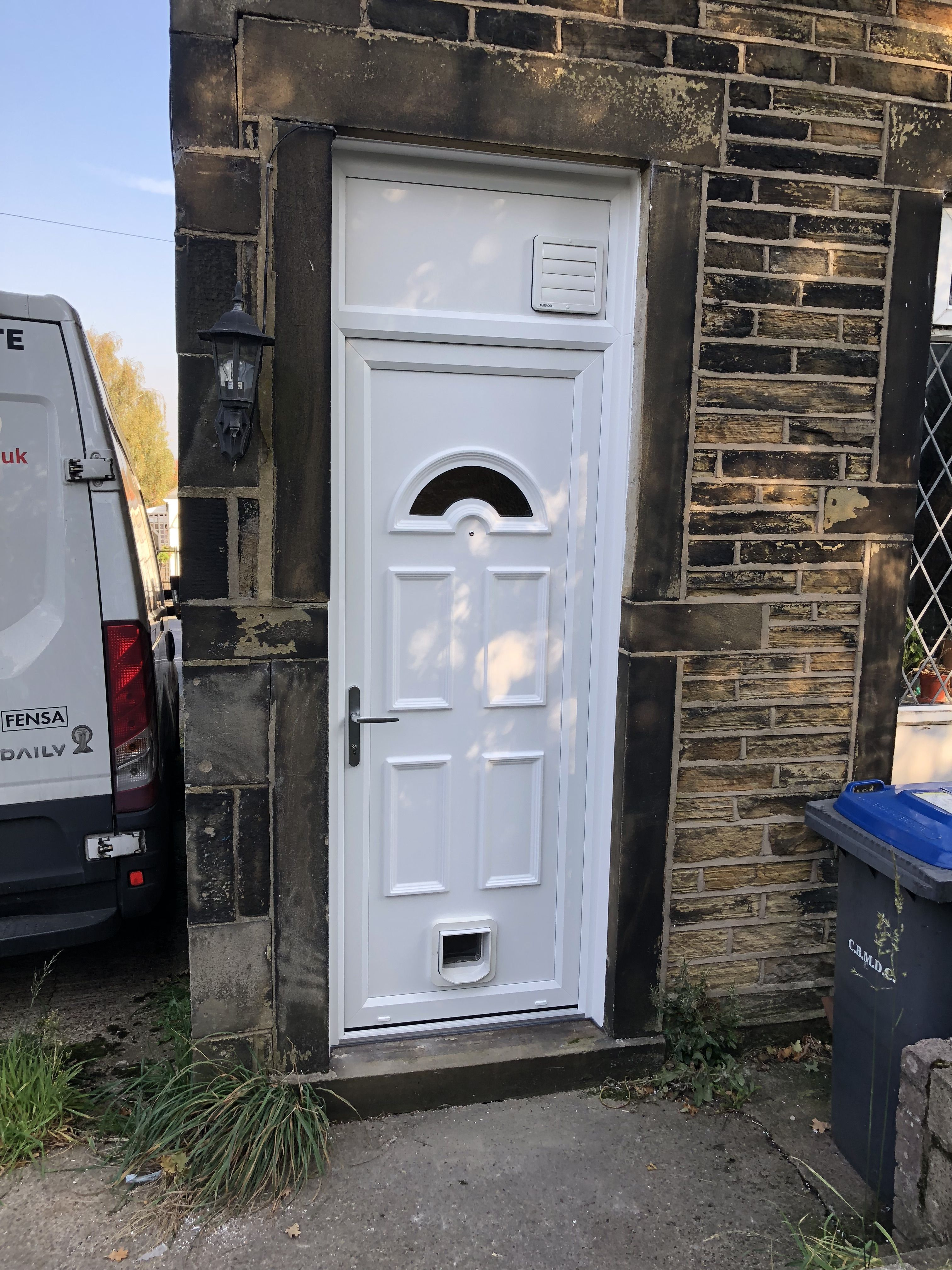 Most Customers Choose Upvc For Their Back Door Option You Can