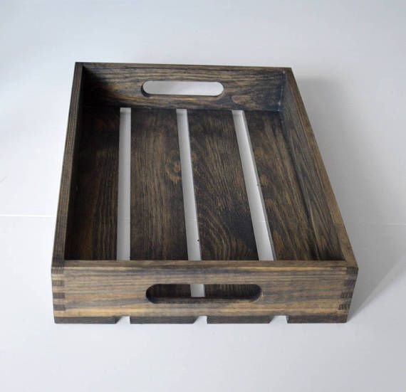 Rustic Crate Gray Tray Wooden Crate Crate Decorative Crate Mason Jar  Decor Wooden Storage Box A Gray Stained Wooden Crate! It Is Very Light And  Perfect As A ...