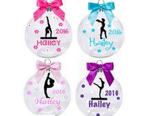 Personalized Gymnastics Ornament/ Christmas Ornament for ...