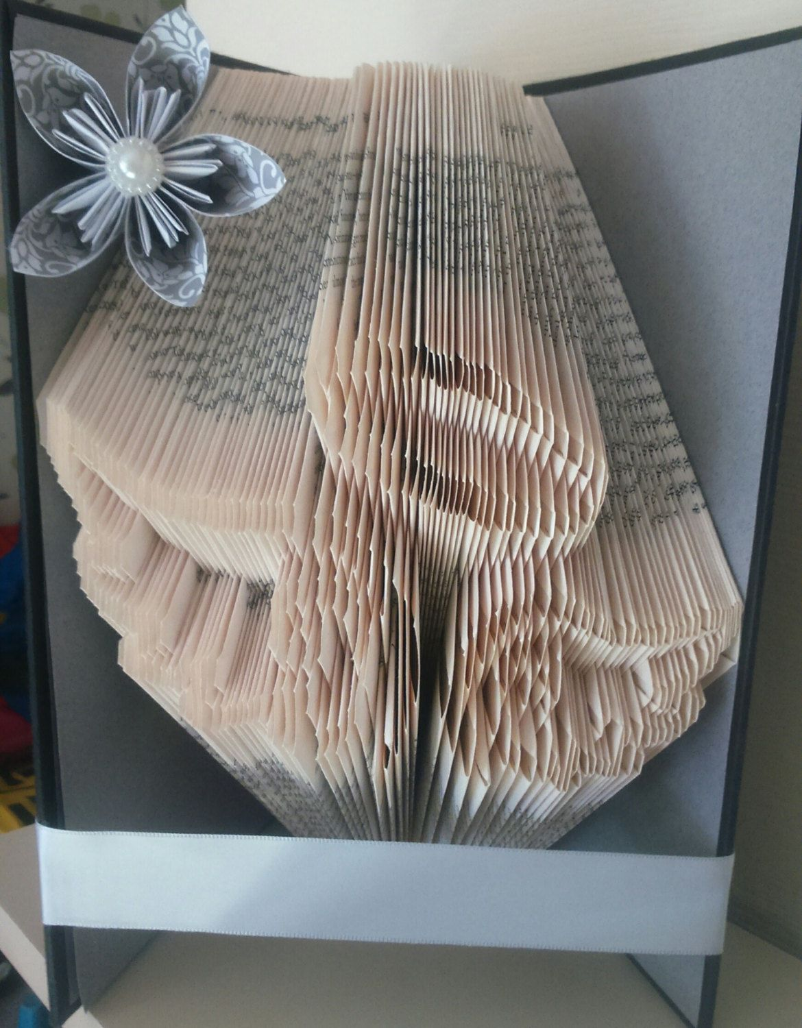 Angel wings and halo book folding pattern book folding