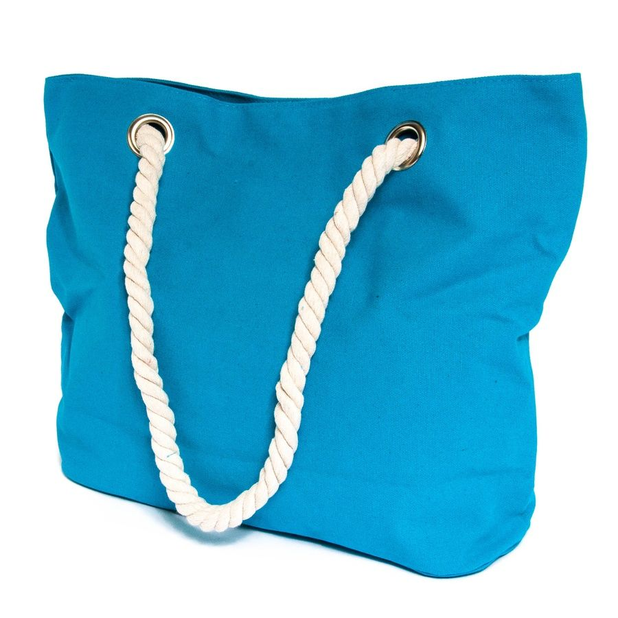 beach bag | Home Ocean Breeze Aquamarine Cotton Beach Bag | BEACH ...