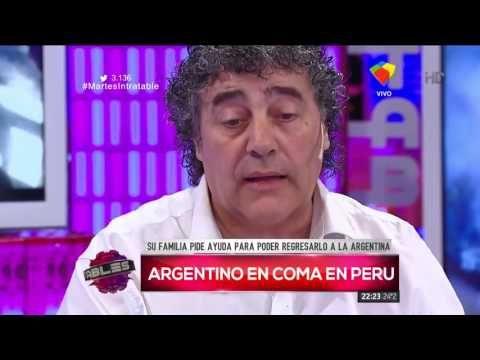 El desesperado pedido de un padre por su hijo accidentado en Perú