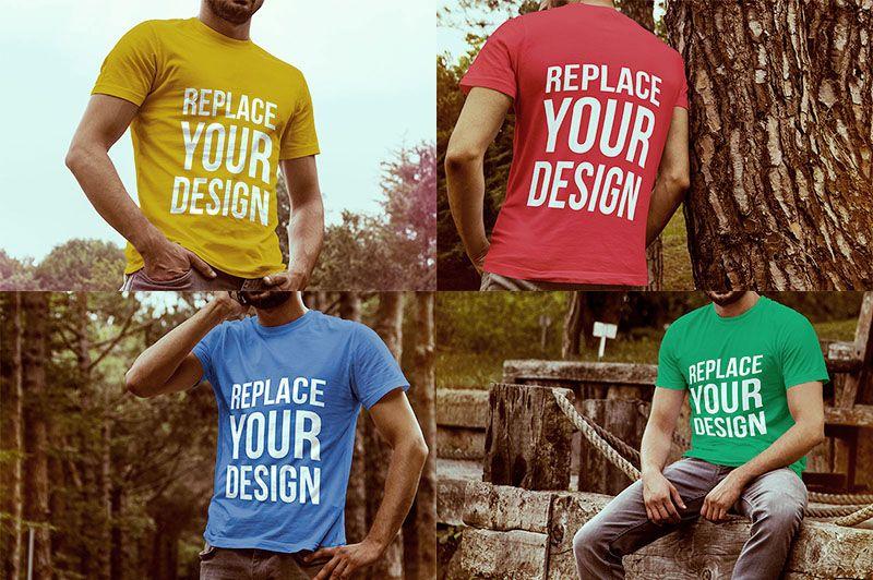 4 Tshirt Psd