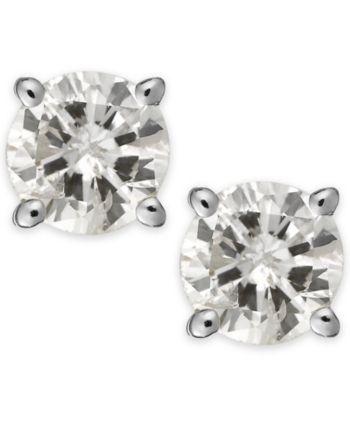 69623147e6f Diamond Stud Earrings (1/3 ct. t.w.) in 14k White or Yellow Gold ...