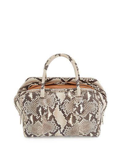 V2NBF Prada Medium Python Inside Bag, Stone/Caramel