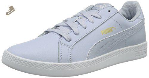 Smash Leather, Chaussures de Tennis Mixte Adulte, Noir (Black/Blue 14), 36 EUPuma