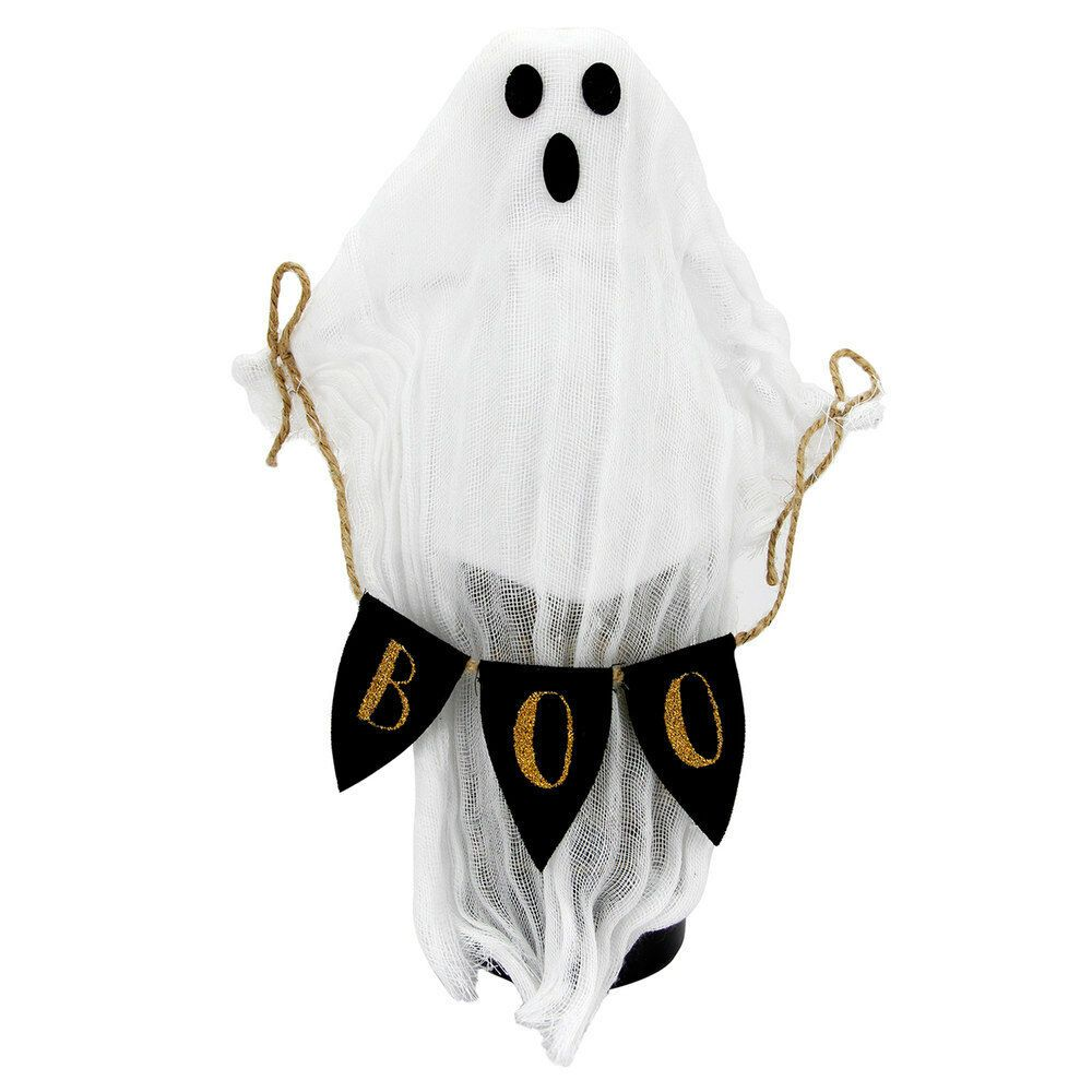 Ghost Boo Banner Plush Figure Halloween Party Wine Bottle Bag Cover Puppet Doll