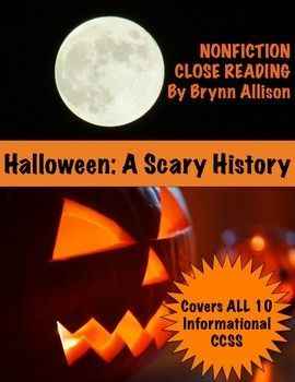 nonfiction close reading history of halloween - Article About Halloween