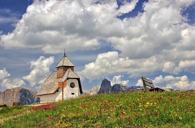 Chiesetta, San Cassiano, Trentino-Alto Adige, Italia