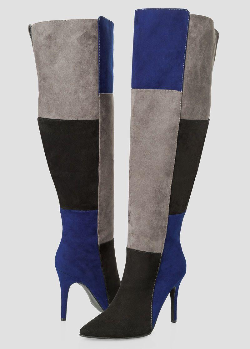 5c1594b3174 Colorblock Over The Knee Boot - Wide Calf Wide Width Colorblock Over The Knee  Boot - Wide Calf Wide Width