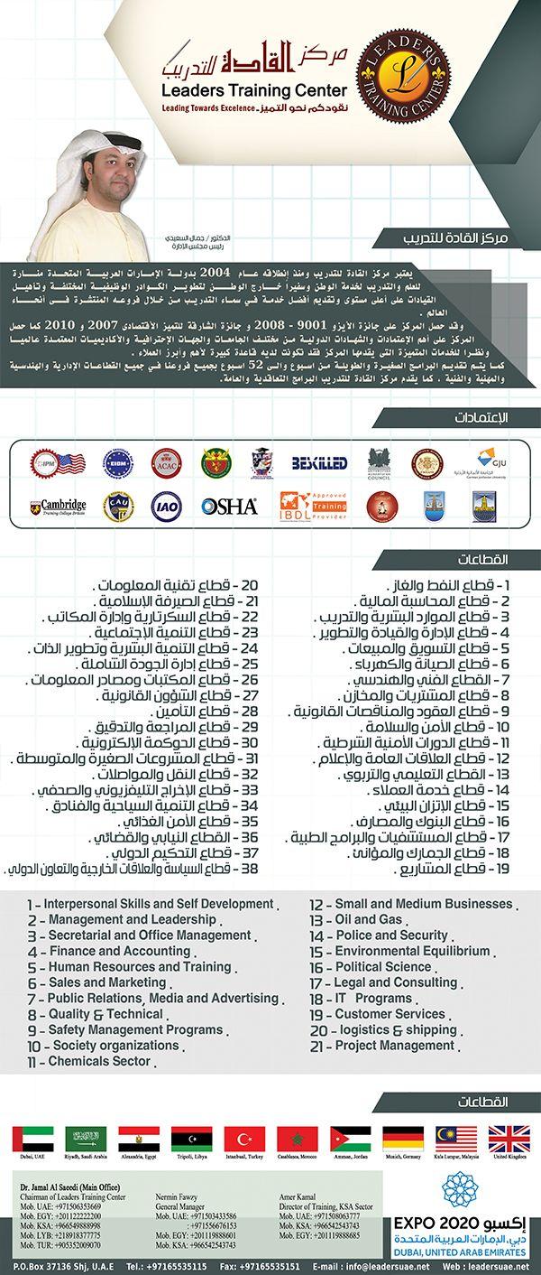 Leaders Training Center التدريب الدورات التدريب المهني إستشارات العالم العربي المواد التدريبية المهنية الكفاءة المهنية العالم Training Center Osha Leader