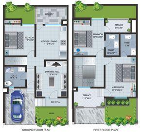 Floor Plans Of Apartments Row Houses At Caroline Baner Row House Design Unique House Plans House Layout Plans