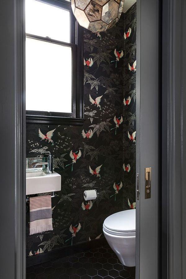 Love The Wallpaper Amazing Bathrooms Bathroom Wallpaper Room
