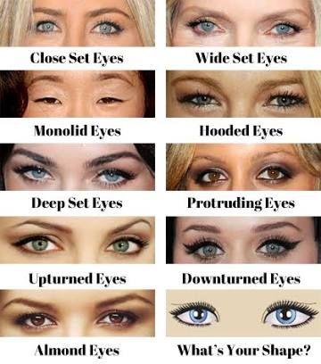 Almond Eyes Google Search Eye Shape Makeup Wide Set Eyes