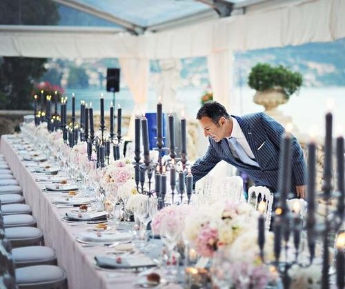 Celebrity Wedding Etiquette: Gray And Pink Wedding- Love The Charcoal Candles--- Love