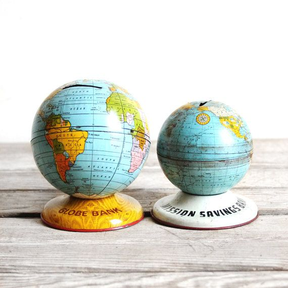 When I Find An Old Globe Paint Frame Mustard Yellow Then Write Scripture On It In White Paint Pen World Globes Vintage Tin World Globe Map