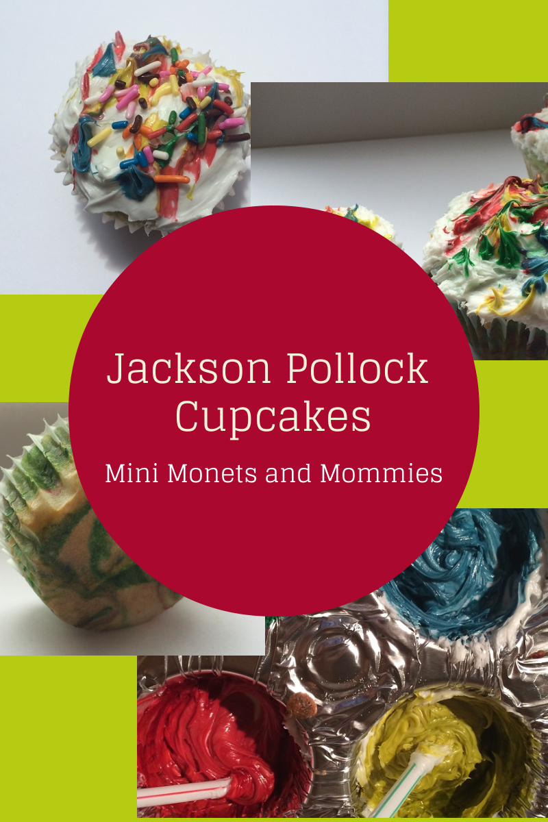 Jackson Pollock inspired cupcakes for kids. Use frosting and ...