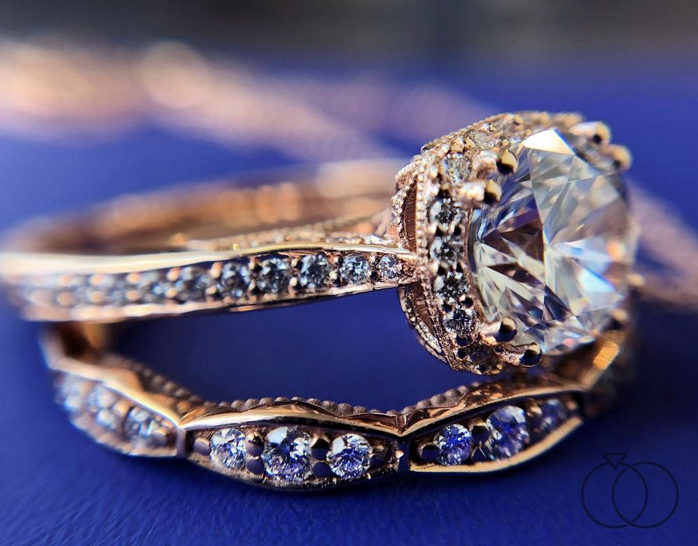 A tacori diamond engagement ring that is so pretty in pink
