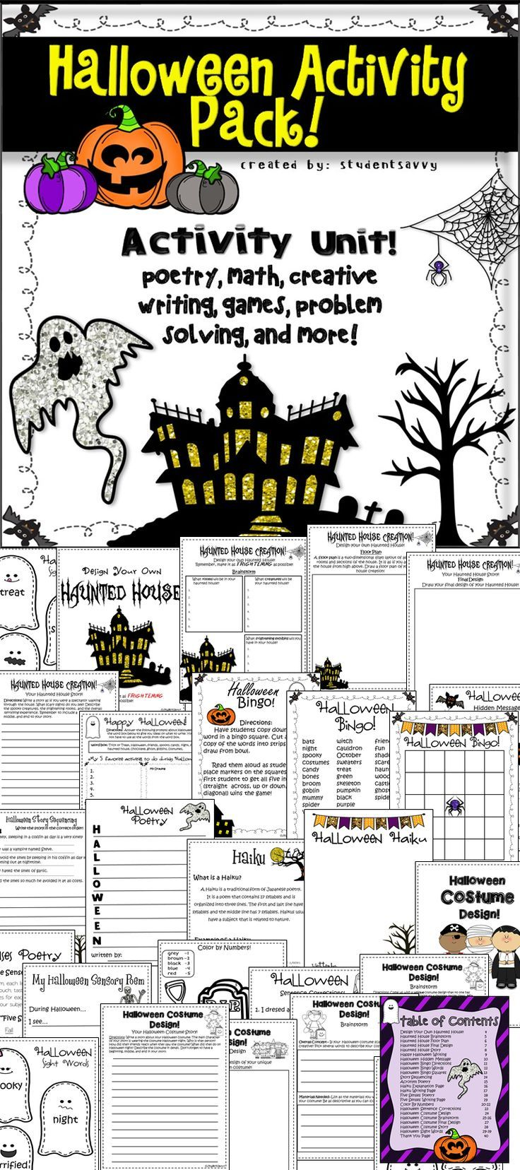 Halloween Activities | Writing poetry, Creative writing and Common ...