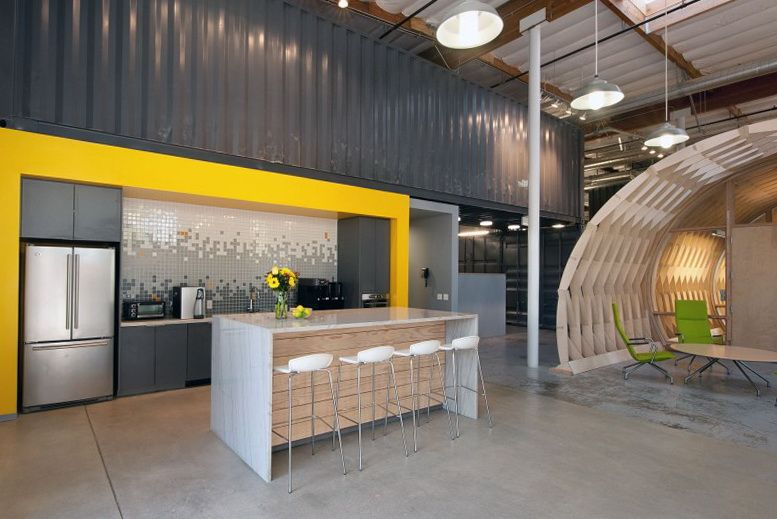 Modern workplace space in california architecture for Interior designs for office space