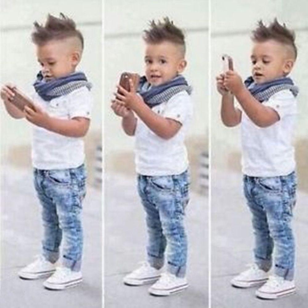 5c8d0bca5fdf 2pcs Toddler Kids Baby Boy Infant T-shirt Top+Jeans Pants Clothes Outfit  Set 2-7