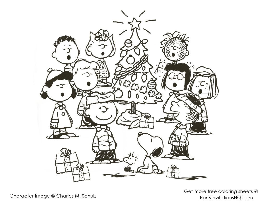 Charlie brown christmas coloring pages to print - Charlie Brown Coloring Pages