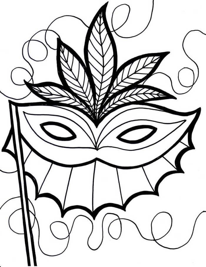 Free Printable Mardi Gras Coloring Page | Coloring pages ...