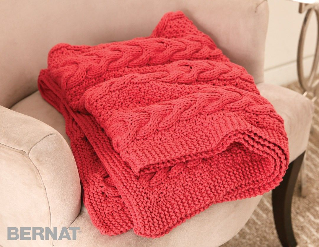 Free Pattern: Cable Ready Blanket   Knit/Crochet: Afghans-Blankets ...