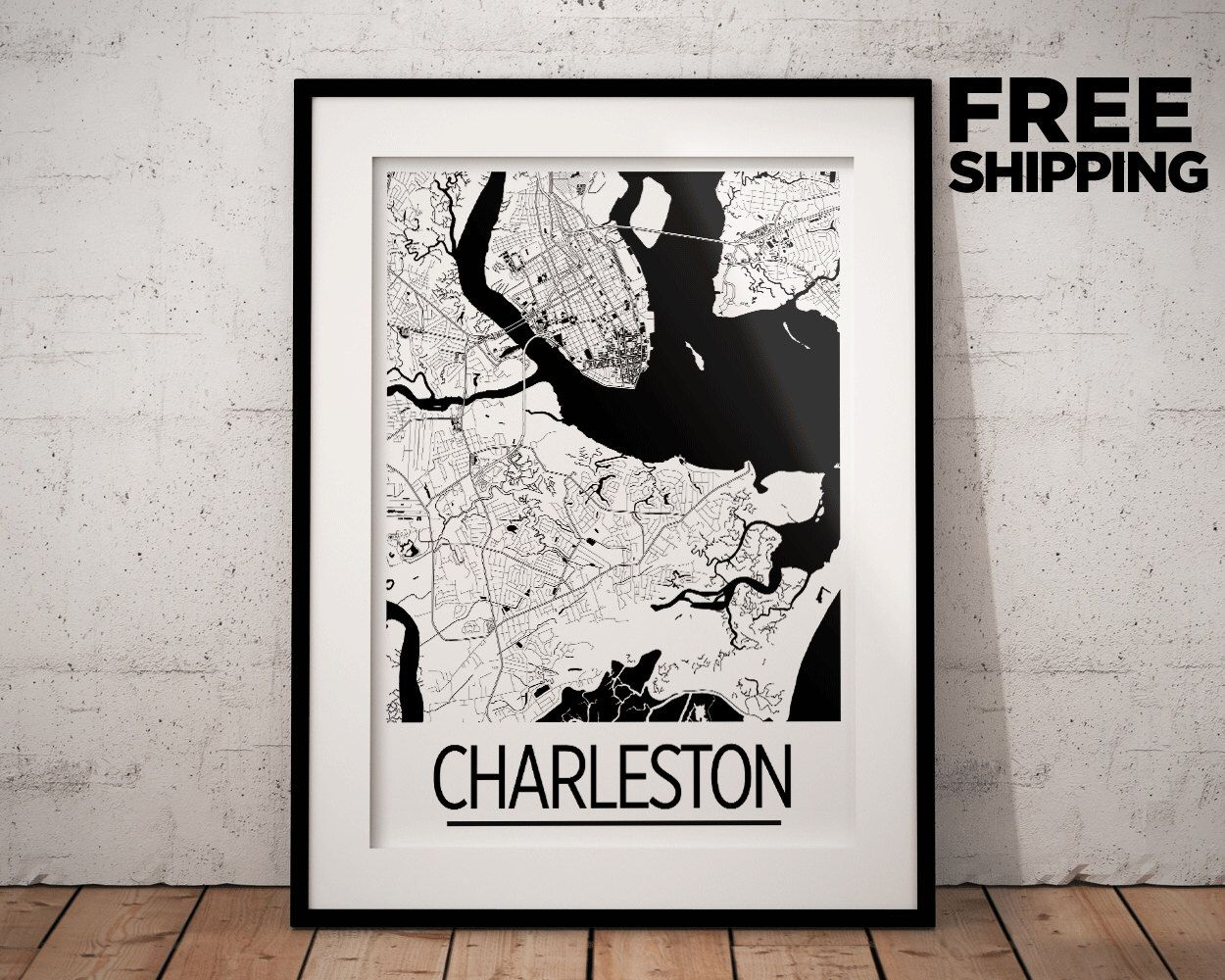 Usa Map List%0A Charleston Map Poster  usa Map Print  Art Deco Series by iLikeMaps on  Etsy https