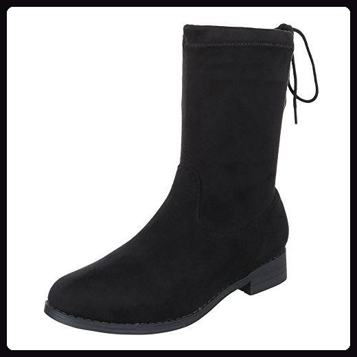 Schlupfstiefel Schuhe Design Stiefeletten Ital Komfort Damen PkZiuOTX