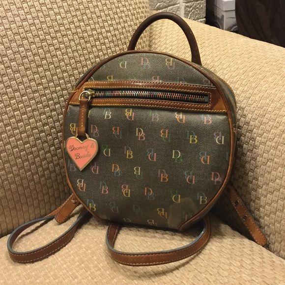 Vintage Dooney \u0026 Bourke backpack purse multi color This