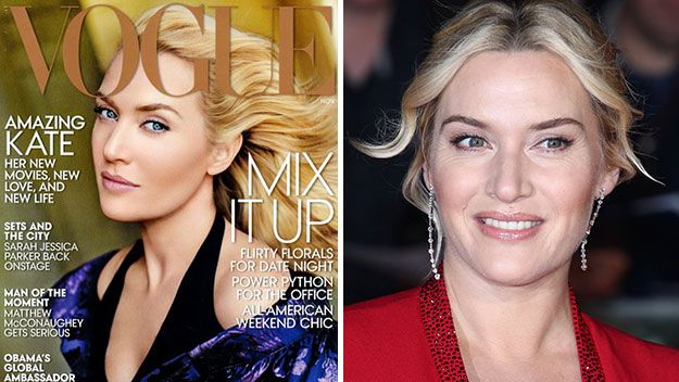 Kate Winslet appeared on the cover of US Vogue looking somewhat plastic, thanks to some heavy-handed airbrushing.