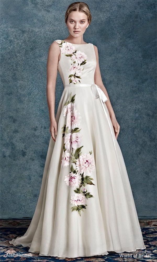 Alan Hannah 2016 Wedding Dresses World Of Bridal Painted Wedding Dress Hand Painted Wedding Dress Wedding Dresses