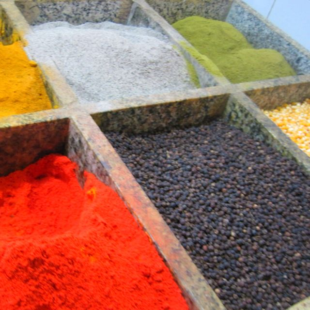 Spices in an outdoor market in Manaus, Brazil. Taken by Liselle Milazzo in February of 2011.