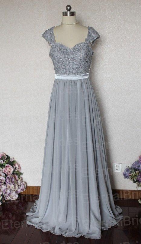 Vintage 1930\'s Style Silver Grey Maxi Dress Suit Bridesmaid or ...