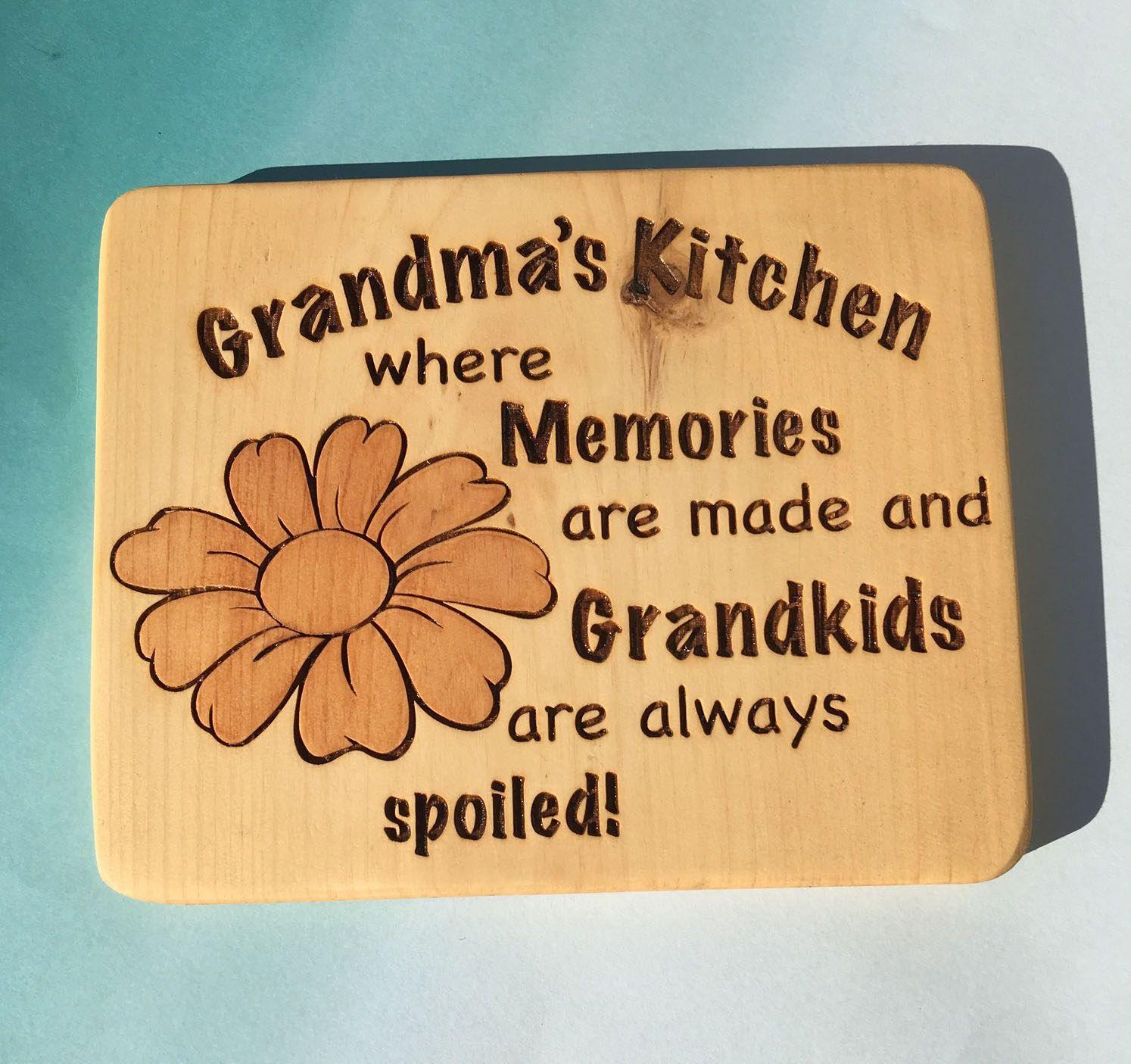 Grandma\'s Kitchen Cutting Board, Gift for Grandma, Cutting Board for ...