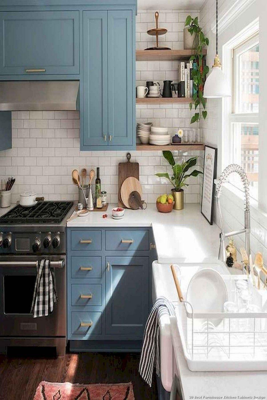 9 Best Farmhouse Kitchen Cabinets Design   Kitchen layout, Modern ...