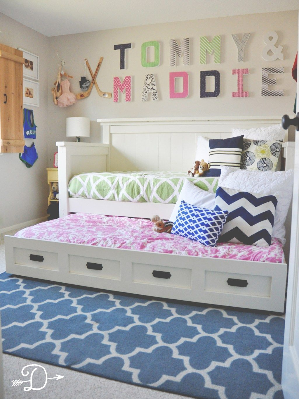 Girl And Boy Room Ideas Boy And Girl Shared Bedroom Diy Daybed With Trundle