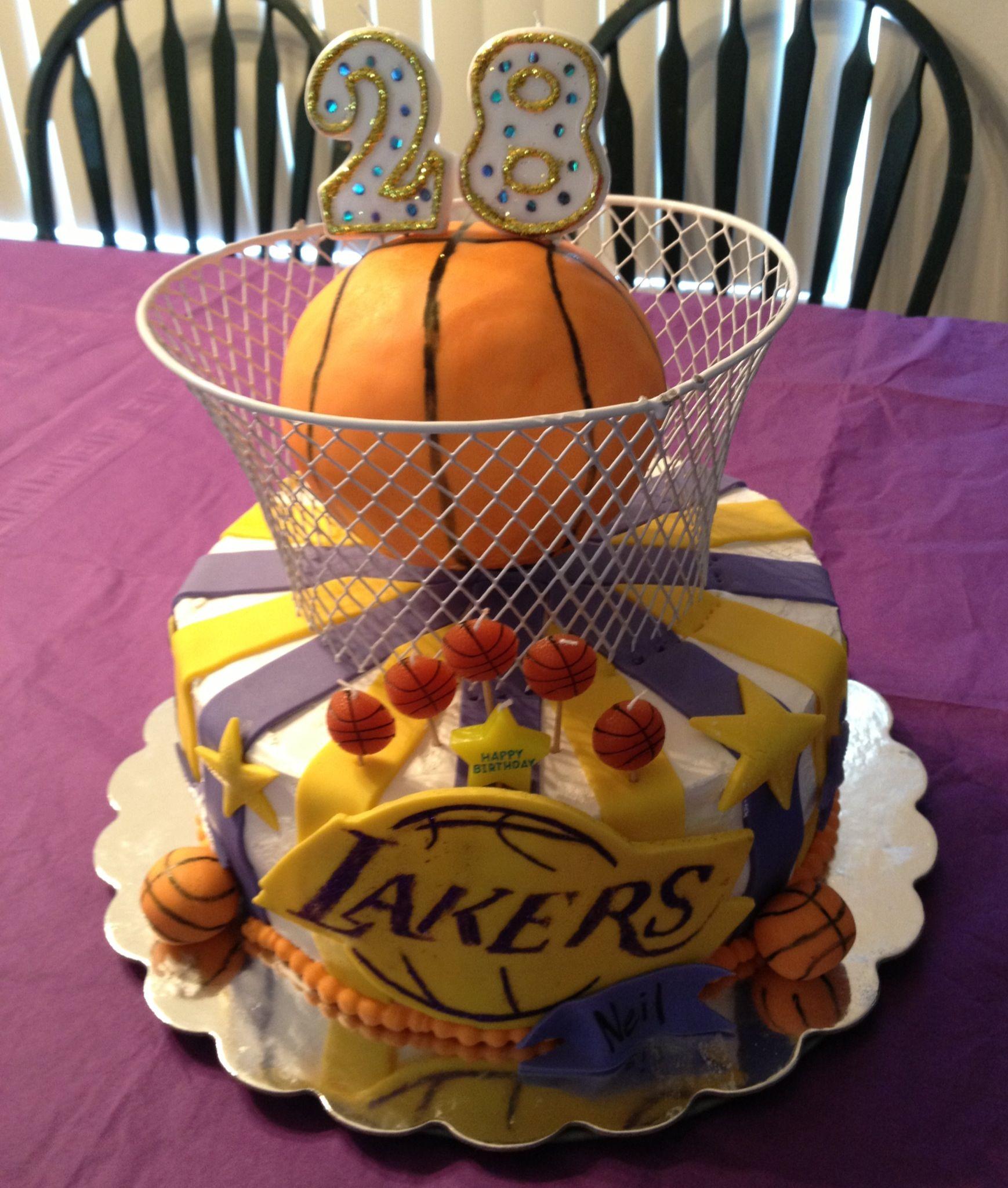 Laker cake by Tami's cake's Cake Pinterest Cake