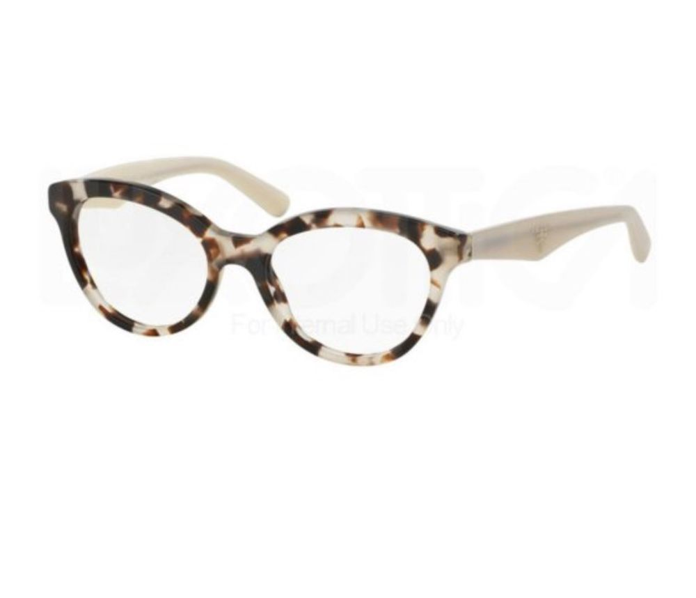 8413944dfc65 Gorgeous Prada PR11RV triangle UAO1O1 glasses in unique white brown tortoise  print (designer color