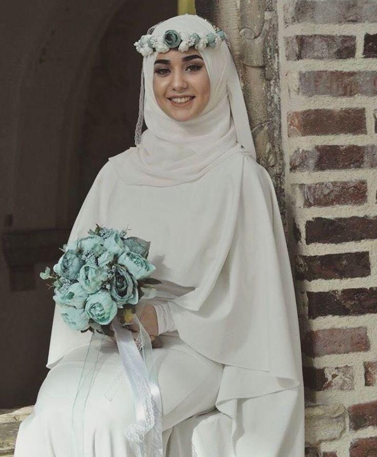 Beauty Muslim Bride Pece Nikab Nikap Nikabis Kapali Carsaf Hicab