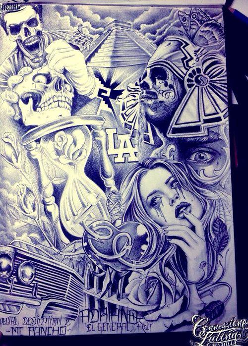 Chicano Art Drawings Lowrider Arte Wallpaper Hd Prison Art Chicano Art Chicano Drawings